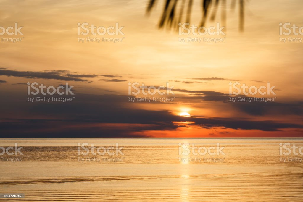 Sunset on the Adriatic sea near Porec in Croatia. royalty-free stock photo