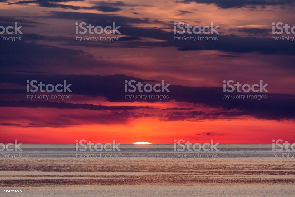 Sunset on the Adriatic sea near Porec in Croatia. royalty-free stock photo