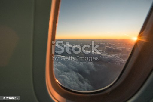 484616224 istock photo Sunset on The Airplane in Japan 926486922