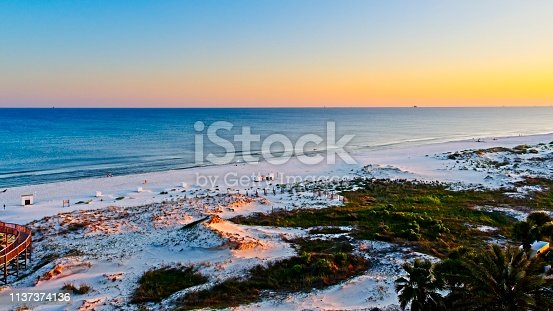 istock Sunset on the Beach in Gulf Shores Al 1137374136