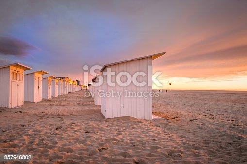 istock Sunset on the beach of Ostend 857946802
