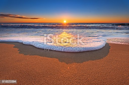 istock Sunset on the beach. 510020394