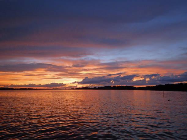 Sunset on the Chesapeake Bay stock photo