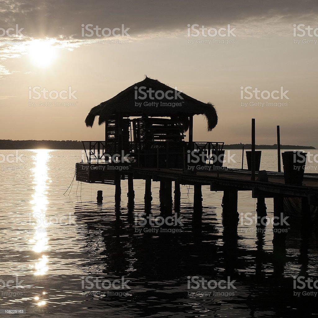 Sunset on the coast royalty-free stock photo