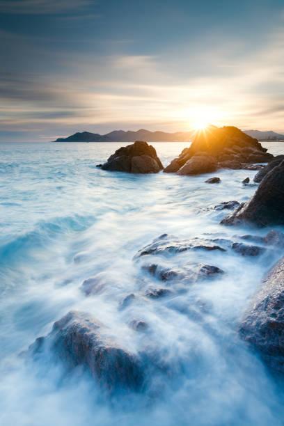coucher de soleil sur le littoral (cannes) - Photo