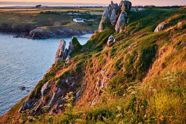 Sonnenuntergang auf der Cornwall Coast line – Foto