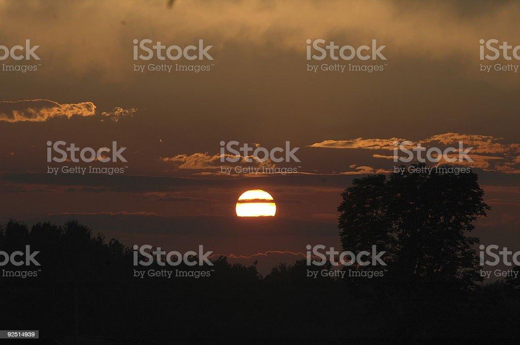 Sunset on the Farm royalty-free stock photo