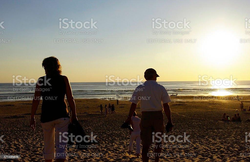 Sunset on the French coast royalty-free stock photo