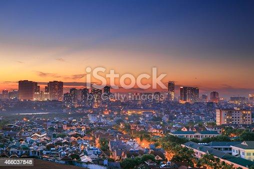 istock Sunset on the house in Hanoi 466037848