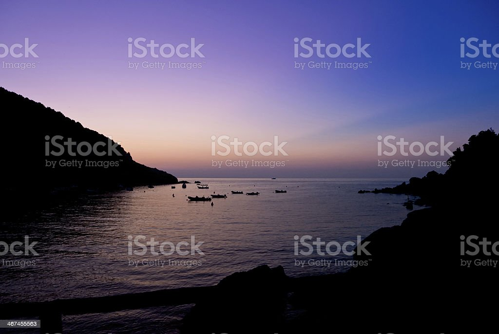 Sunset on the Island of Elba. royalty-free stock photo