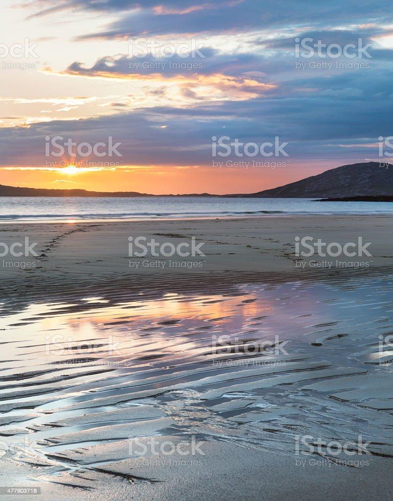 Sunset on the Isle of Harris stock photo