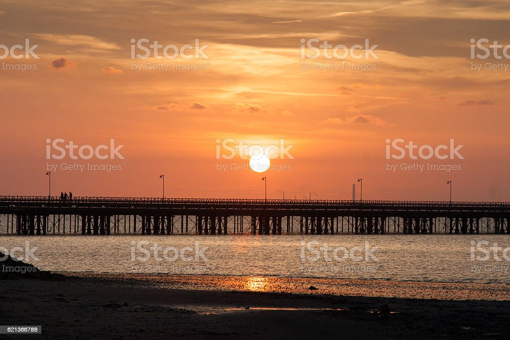 Sunset on the Isle of Wight stock photo