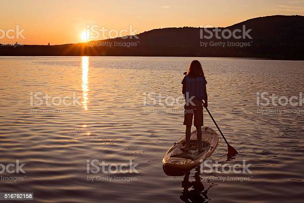 Sunset On The Lake Stock Photo - Download Image Now