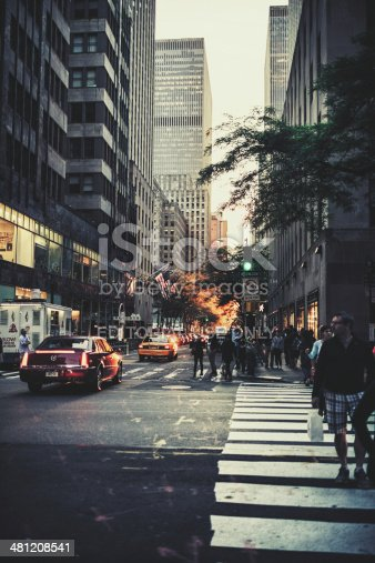 813211754 istock photo Sunset on the Manhattan Grid or Manhattanhenge 481208541