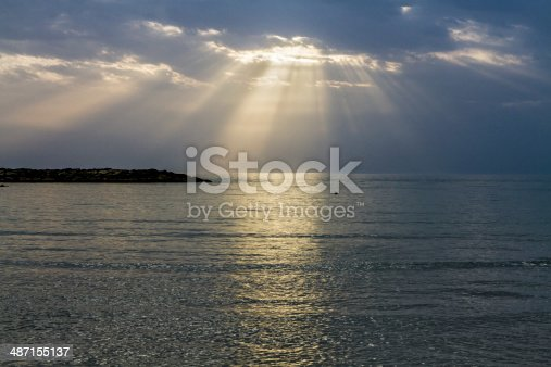 istock Sunset on the Mediterranean Sea . 487155137