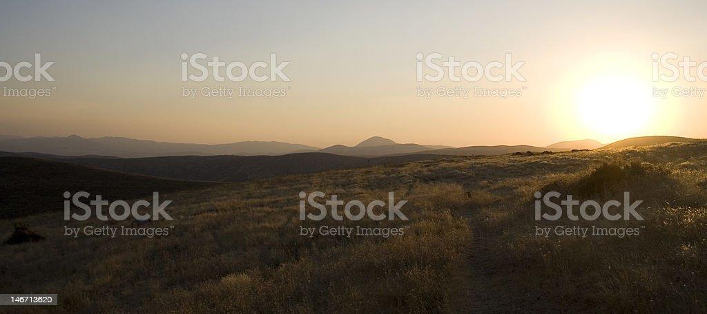 Sunset On The Mountains stock photo