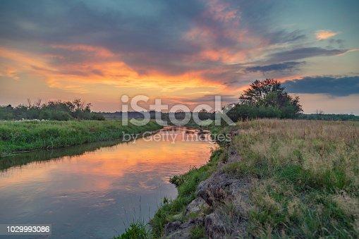 Beautiful landscape - a flowing river.