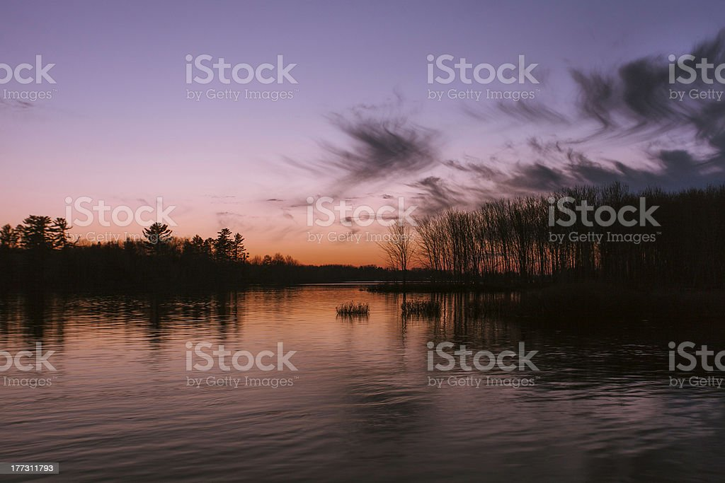 Sunset on the River royalty-free stock photo