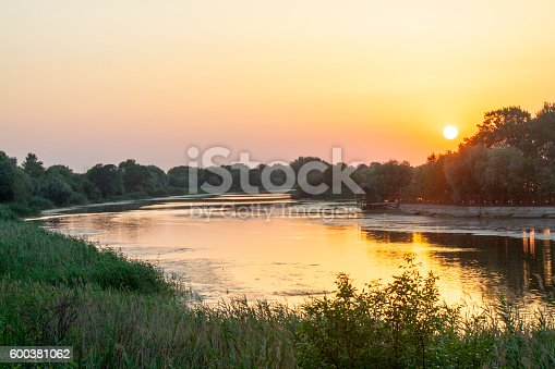 Sunset on the River Don in Russia in June of the summerSunset on the River Don in Russia in June of the summer