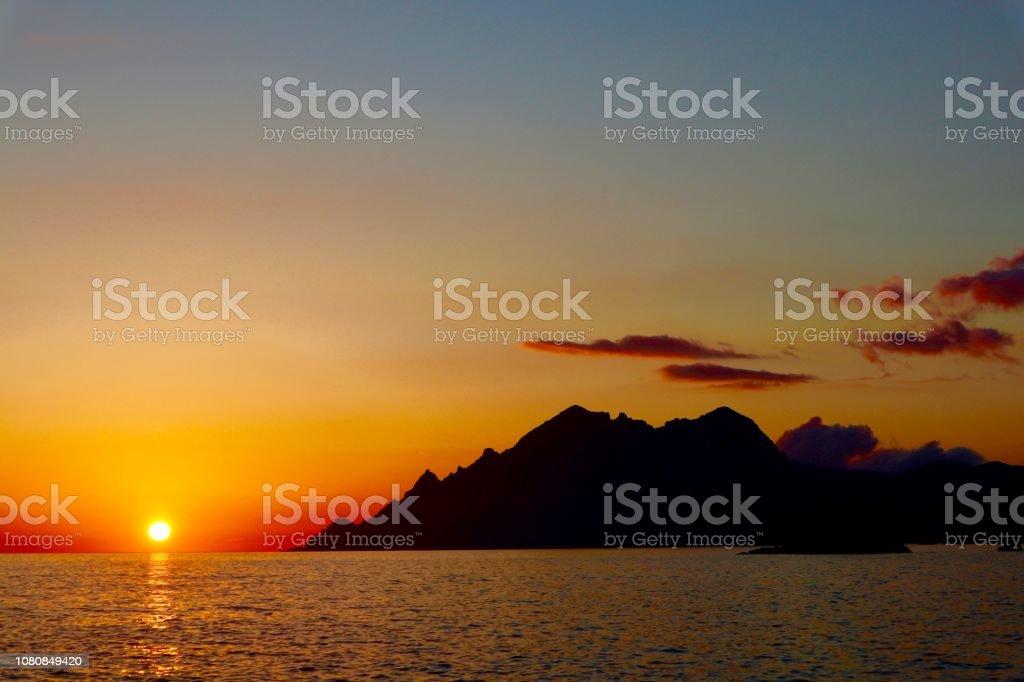 Coucher de soleil sur la mer - Photo