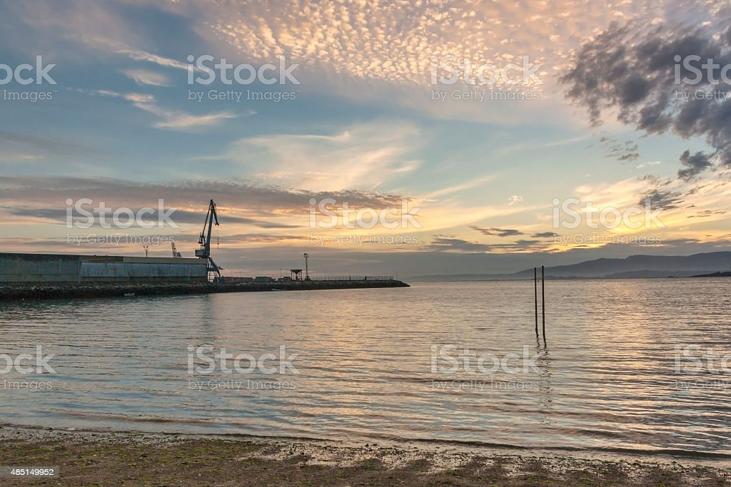 Sunset on the sea royalty-free stock photo