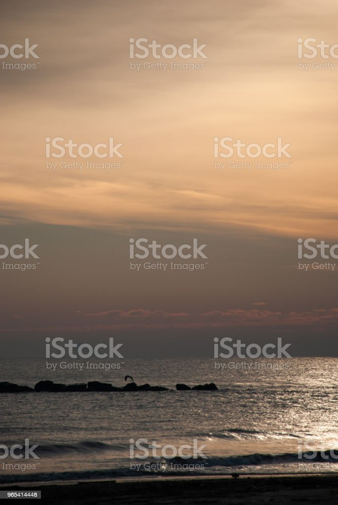 Sunset on the sea zbiór zdjęć royalty-free