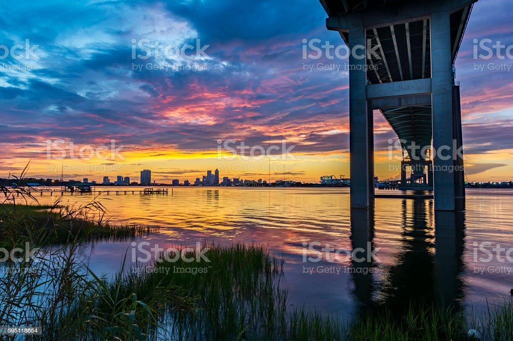 Sunset On The St Johns stock photo