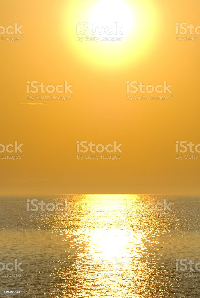 sunset on the St-Lawrence river royalty-free stock photo