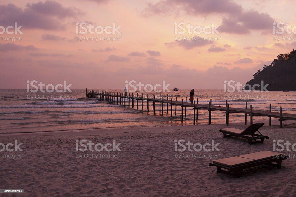 Sunset on the tropical island of Koh Kood royalty-free stock photo