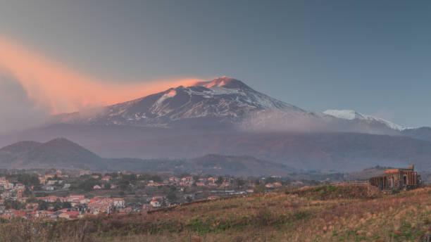 sunset on the volcano – zdjęcie