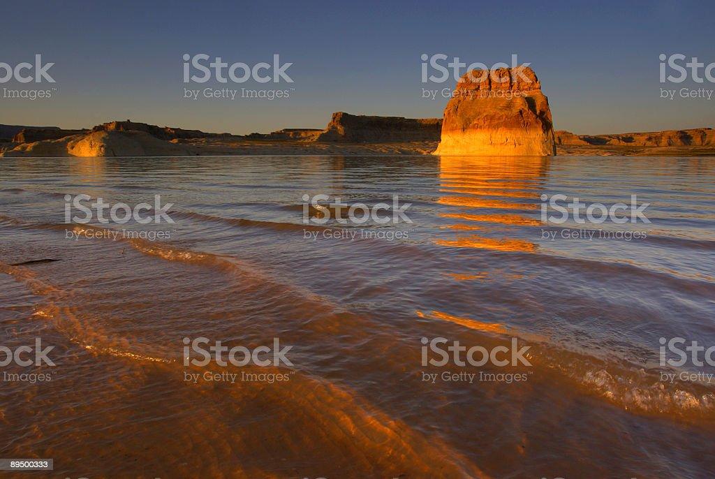 sunset on the water royaltyfri bildbanksbilder