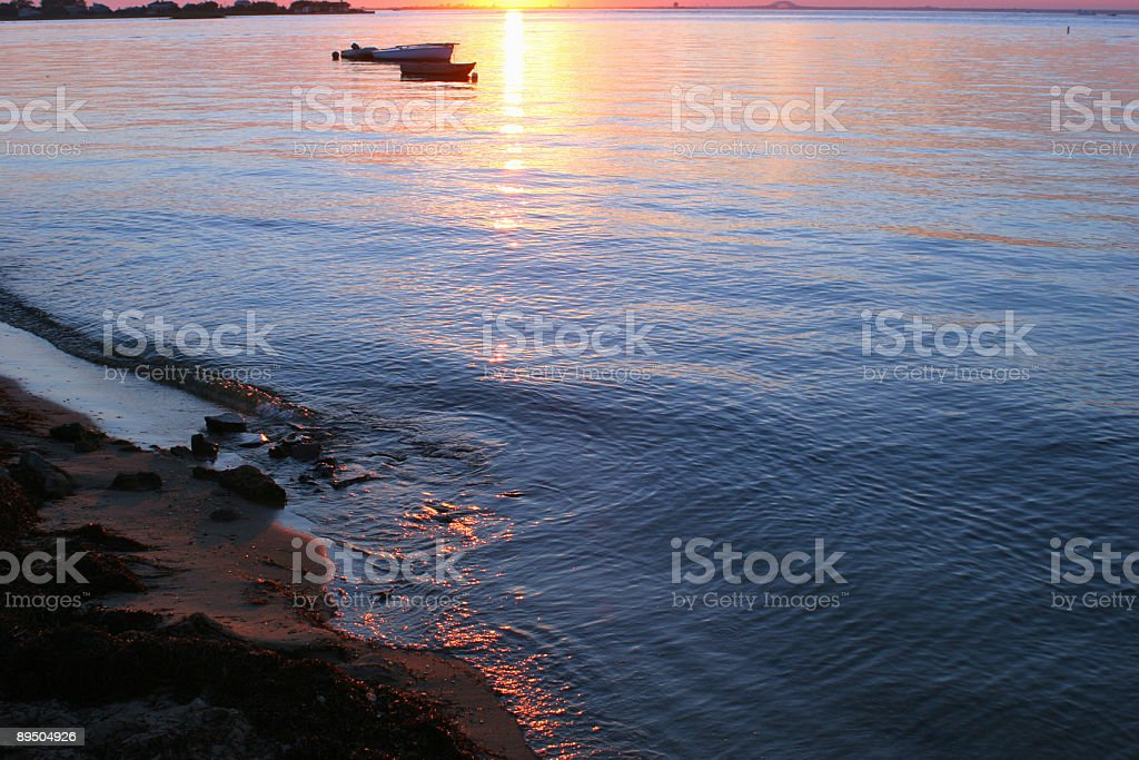 Sunset on Water royalty free stockfoto