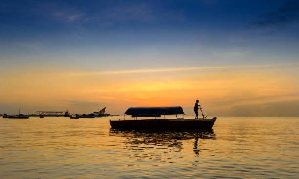 Sunset on Zanzibar Island stock photo