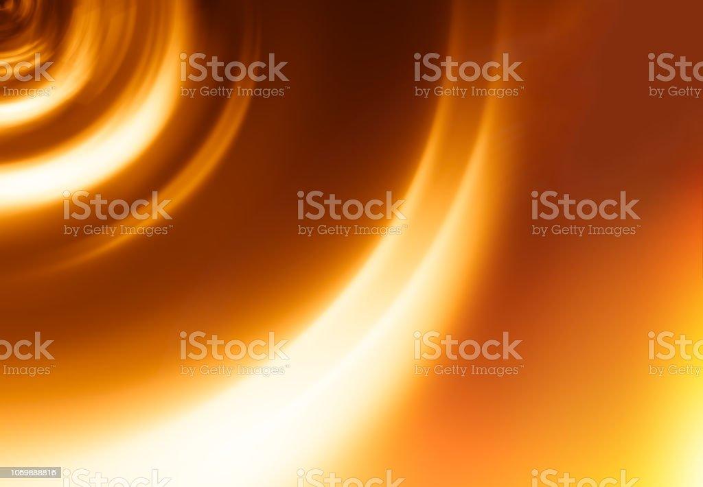 Sunset orange tunnel motion blur background stock photo