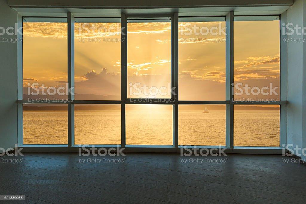sunset outside the windows, seattle – Foto