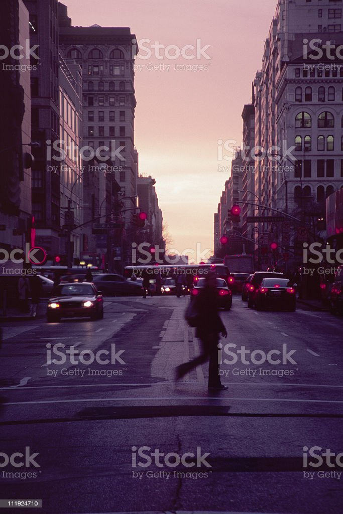 Sunset Over 14th Street, New York City stock photo