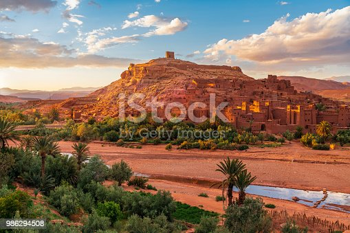 872393896istockphoto Sunset over Ait Benhaddou - Ancient city in Morocco North Africa 986294508