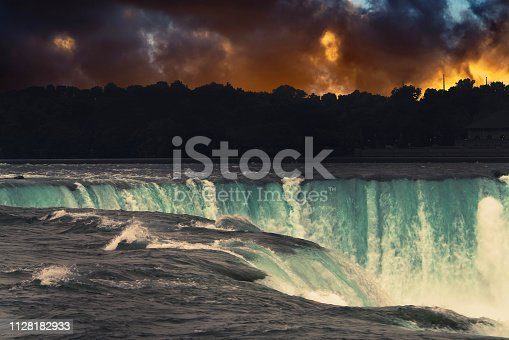 istock Sunset over American Niagara Falls, New York State, USA 1128182933