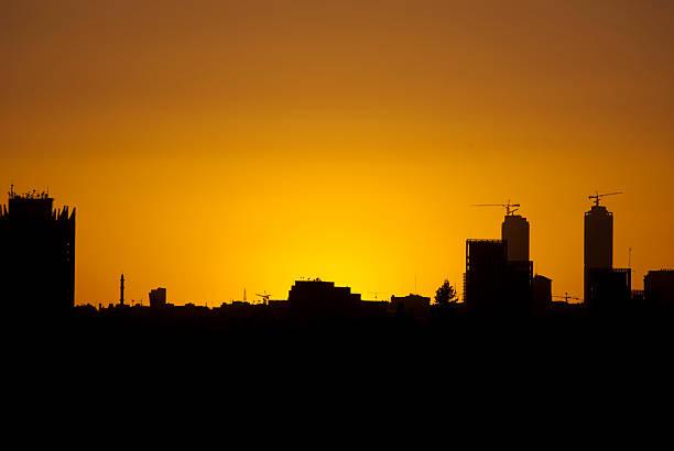 Sunset over Amman stock photo