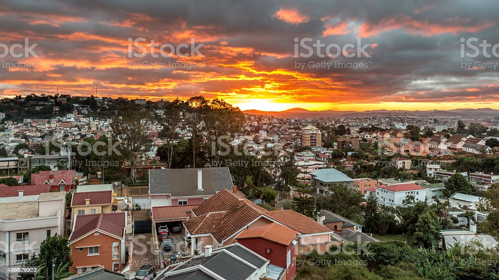 Coucher de soleil de Antananarivo - Photo