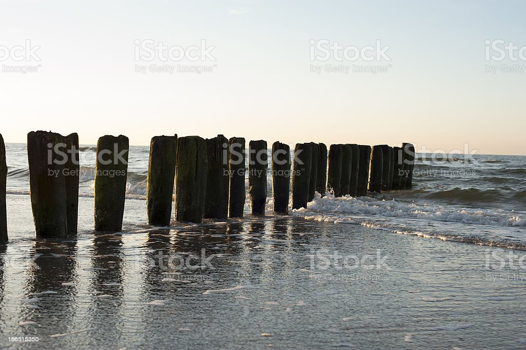 Sunset over Baltic Sea royalty-free stock photo