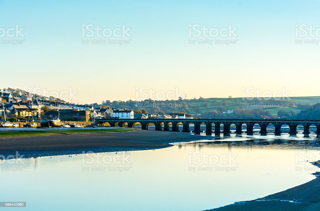 Sunset Over Bideford stock photo