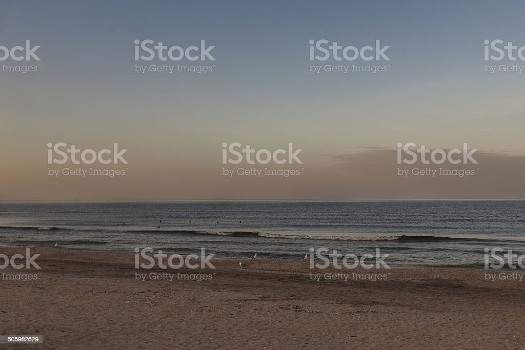 Sunset Over Black Sea royalty-free stock photo