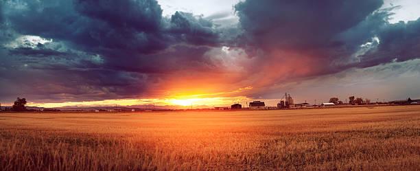 Sunset over Bozeman Montana stock photo