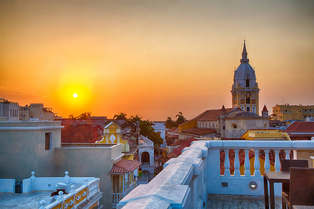 Sonnenuntergang über Cartagena – Foto