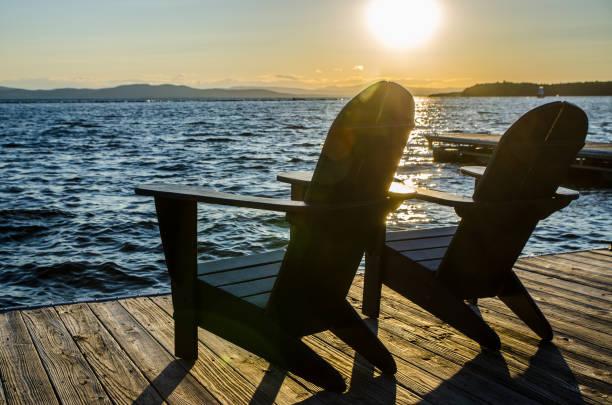 Sonnenuntergang über dem Champlain-See – Foto