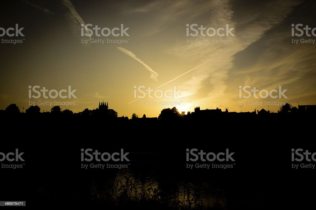 Sunset over Chester royalty-free stock photo