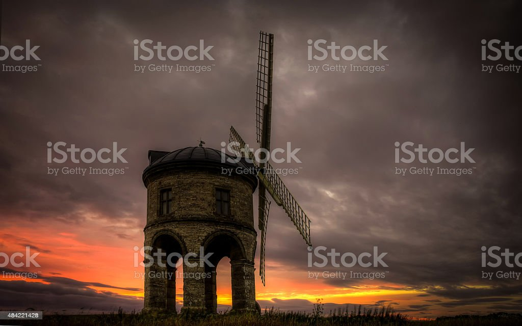 Sunset Over Chesterton Mill stock photo