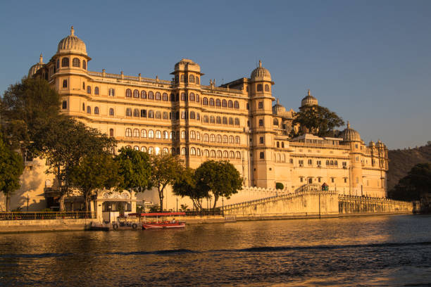 Sunset over City Palace and the Lake Pichola, Udaipur, Rajasthan