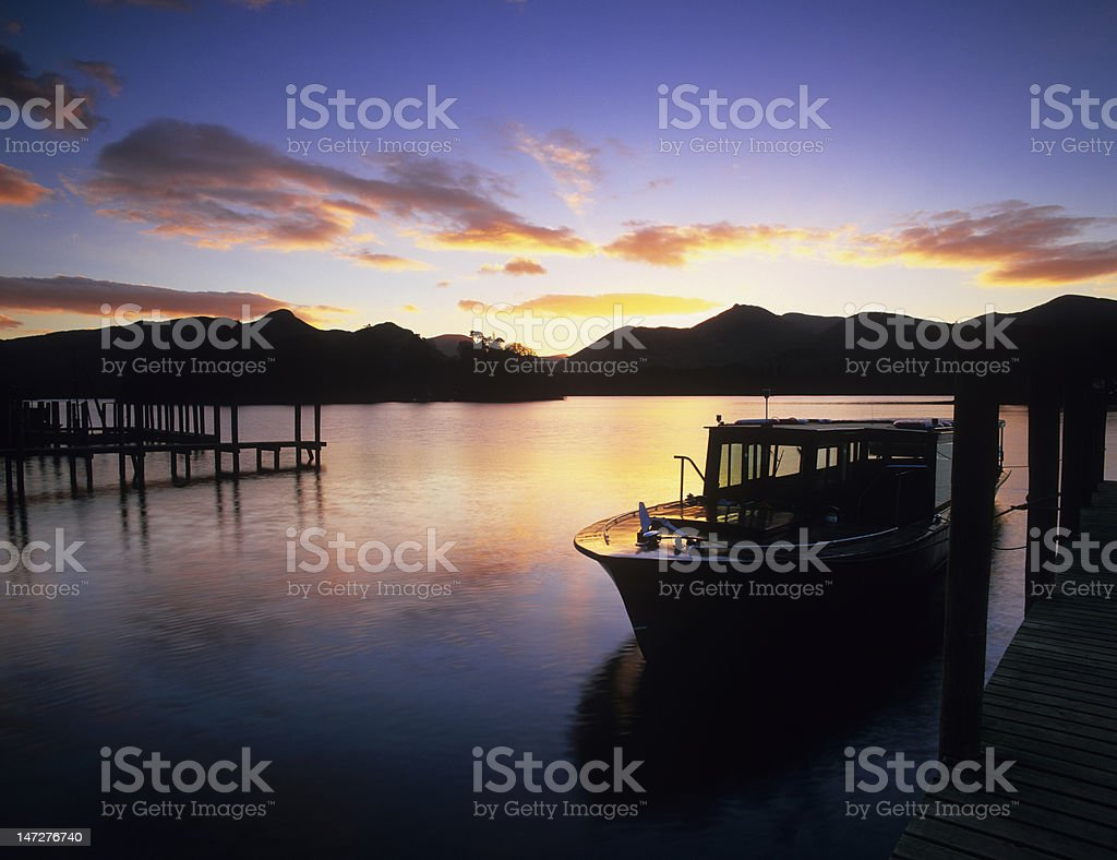 Sunset over Derwent Water, Lake District royalty-free stock photo